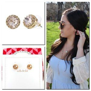 Stella & Dot Nancy Studs Earring Peach